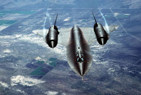 A U.S. Air Force SR-71A Blackbird