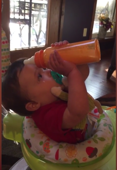 Baby's struggle to drink milk