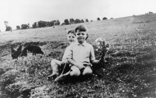 Slide 1 of 19: 1948:  Beatle-to-be Paul McCartney at the age of six in front with his eight-year-old brother Mike (later Mike McGear of the Scaffold).  (Photo by Keystone/Getty Images)