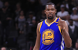 SAN ANTONIO, TX - MAY 22: Kevin Durant #35 of the Golden State Warriors reacts in the second half against the San Antonio Spurs during Game Four of the 2017 NBA Western Conference Finals at AT&T Center on May 22, 2017 in San Antonio, Texas. NOTE TO USER: User expressly acknowledges and agrees that, by downloading and or using this photograph, User is consenting to the terms and conditions of the Getty Images License Agreement. (Photo by Ronald Martinez/Getty Images)