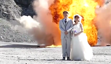 A highly explosive wedding photoshoot!