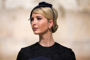Ivanka Trump, the daughter of US President Donald Trump, is seen during a visit to the Western Wall, the holiest site where Jews can pray, in Jerusalems Old City on May 22, 2017. / AFP PHOTO / POOL / Heidi Levine        (Photo credit should read HEIDI LE