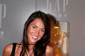 Actress Megan Fox in the Gap Body booth on day 4 of Olympus Fashion Week Spring ...