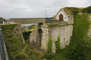 General view of the fortress that is HMP Verne at Portland in Dorset