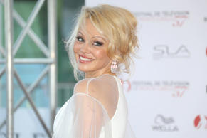 Pamela Anderson poses during the opening Ceremony of the 57th Monte-Carlo Television Festival on June 16 in Monaco.