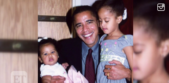 Michelle Obama shares sweet throwback on Father's Day