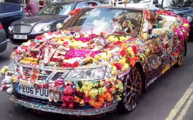 Insanely decked up car in London