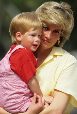 Diana, Princess of Wales with Prince Harry