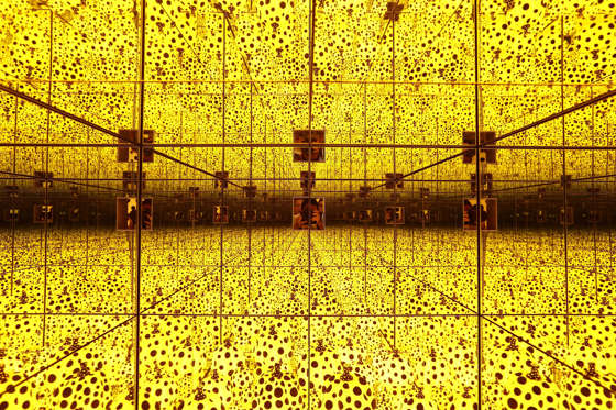 Slide 2 de 36: A general view of Yayoi Kusama exhibit titled 'The Spirits of Pumpkins Descended into the Heavens' during a media preview at National Gallery Singapore on June 6, 2017 in Singapore.