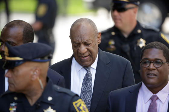 Bill Cosby arrives for his sexual assault trial at the Montgomery County Courthouse in Norristown, Pa., Thursday, June 8, 2017. (AP Photo/Matt Rourke)