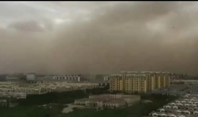 Time-lapse footage of sandstorm hitting northern China