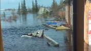A powerful March blizzard contributed to flooding around Churchill, Man. The owners of the Hudson Bay Railway line say flooding that submerged a section of the track has caused severe damage.