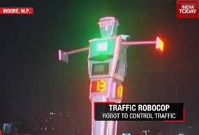 Indore professors design wi-fi robocop with camera to manage city traffic
