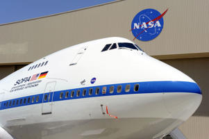 A View of the Boeing 747sp that Houses NASA's Sofia Telescope.