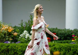 Assistant to the President Ivanka Trump walks through the Rose Garden at the annual Congressional Picnic on the South Lawn White House Congressional Picnic, Washington DC, USA - 22 Jun 2017