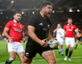 All Blacks hokker Codie Taylor celebrates after scoring a try during the first test between the British and Irish Lions and the All Blacks at Eden Park in Auckland, New Zealand, Saturday, June 24, 2017.