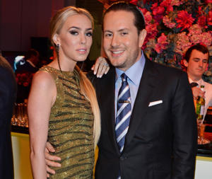 LONDON, ENGLAND - JULY 02: Petra Stunt (L) and James Stunt attend The F1 Party in aid of the Great Ormond Street Children's Hospital at the Victoria and Albert Museum on July 2, 2014 in London, England. (Photo by David M. Benett/Getty Images)