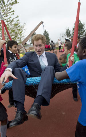Prince Harry at the new Queen Elizabeth Olympic Park in London, England, on April 4, 2014.