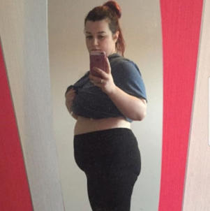 Siobhan's weight left her feeling depressed (Photo: Triangle News / Siobhan Thornton)