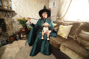 Harry Potter fan Maria York poses in her Professor McGonagall costume at her home in Grays, Britain, March 7, 2017.