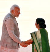 PM Modi praises Swaraj in Washington