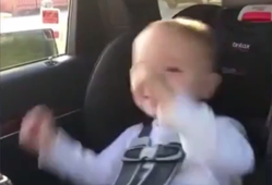 This little guy gets ecstatic when a train passes by