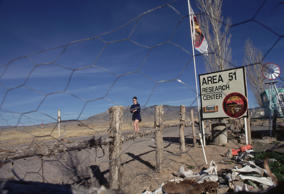 (Original Caption) Rachel, Nevada: Area 51 research center. (Photo by mark peterson/Corbis via Getty Images)