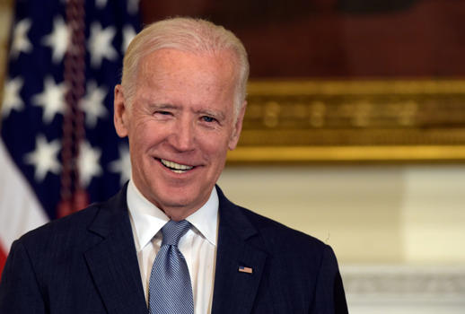 In this Jan. 12, 2017 file photo, Vice President Joe Biden smiles in the State Dining Room of the White House in Washington.