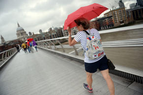 So long, summer: The Met Office has warned about rain and thunder in London