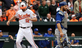 Seth Smith and the Orioles have won seven of nine against Russell Martin and the Jays this season. They meet again starting Tuesday night at the Rogers Centre.