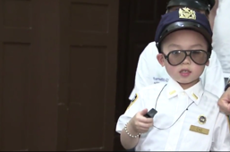 Little boy with cancer honored by New York's finest