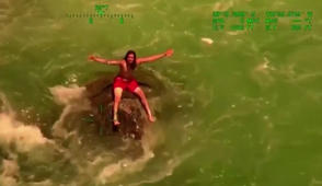 Amazing river rescue caught on video