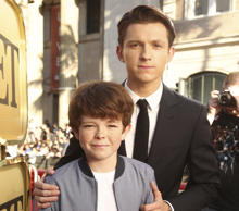 "Sam Holland, left, and Tom Holland seen at Columbia Pictures World Premiere of ""Spider-Man: Homecoming"" at TCL Chinese Theatre on Wednesday, June 28, 2017, in Hollywood, CA."