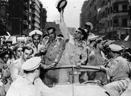 NYT: 1952	Egyptian military officers led by Gamal Abdel Nasser overthrew King Farouk I.