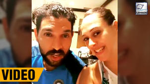 Hazel Keech CAUGHT Spying Hubby Yuvraj Singh