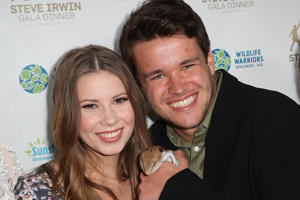 Bindi Irwin and Chandler Powell attend the Steve Irwin Gala Dinner at the SLS Hotel at Beverly Hills on May 13, 2017 in Los Angeles, California.