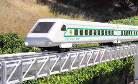 This train could hit 320 kph on just air power