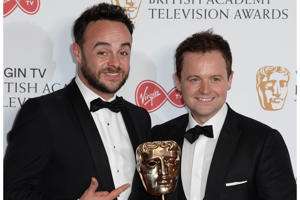 Ant McPartlin and Declan Donnelly with the award for Best Live Event in the winners photo area at the Virgin British Academy Television Awards (BAFTA) held at the Royal Festival Hall, Southbank, London.
