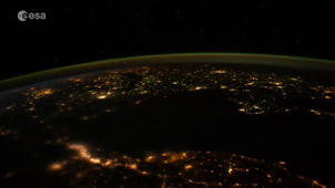 This footage shows captivating view of the Persian Gulf from outer space