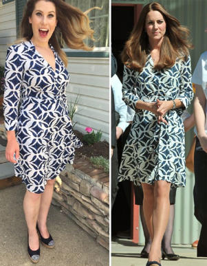 Her most expensive item is the Diane Von Furstenberg dress Kate wore in Australia (Image: PA Real Life)