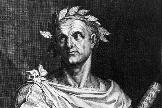 Slide 1 of 7: 100 B.C.:  Julius Caesar is born in Rome.