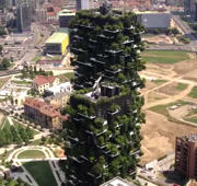 Stunning drone footage of Milan's vertical forest
