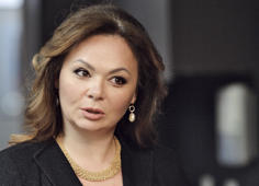 In this photo taken on Tuesday, Nov. 8, 2016, Kremlin-linked lawyer Natalia Veselnitskaya speaks to a journalist in Moscow, Russia.