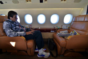 Big B has a cool private jet!