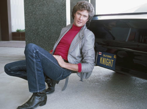 Slide 1 of 74: Pictured: David Hasselhoff as Michael Knight and K.I.T.T. -- Photo by: Gary Null/NBCU Photo Bank .