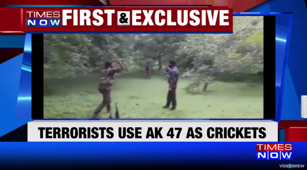 Watch: Terrorists play cricket in J&K