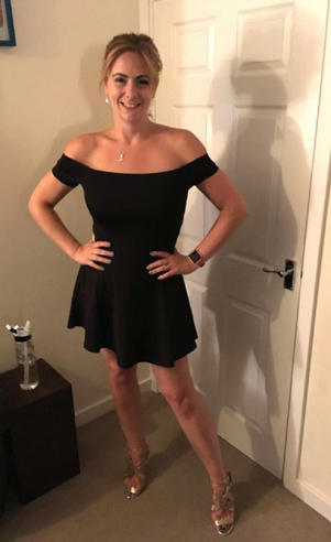 Natalie feels more confident after losing weight. Here she is pictured ready for a night out to celebrate her 31st birthday in June 2017 (Image: PA Real Life)