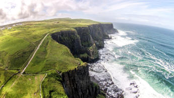 A couple have captured a series of striking drone images of Ireland. Martin and Caro quit their jobs and decided to travel round the world. They took their honeymoon in Ireland in June 2015 and captured a series of stunning drone images of rugged coastlines, hills and even the castle where Game of Thrones was previously filmed.