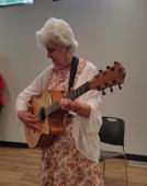 90-year-old lady performs a song about aging at her birthday party