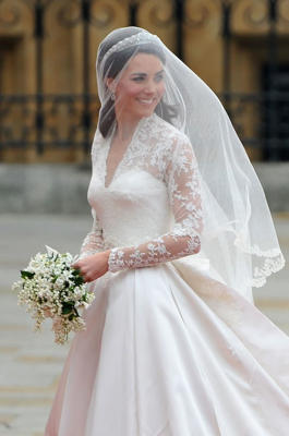 Kate Middleton loves… Alexander McQueen: On arguably the most important – and highly televised – day of her life, Kate worked with Sarah Burton on creating her iconic Alexander McQueen gown. A long-time fan of the design house, it was a surprise to few that this was her pick for perhaps the most memorable dress she would ever wear.You might also like: Kate Middleton's top 10 style-defining looks.